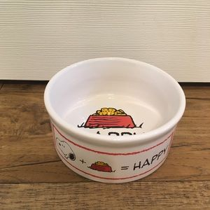 NWOT Gibson Peanuts Snoopy Small Dog Food Bowl
